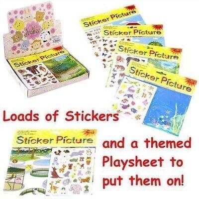 Stickers & Playsheet x 2, activity sheet pocket money toy