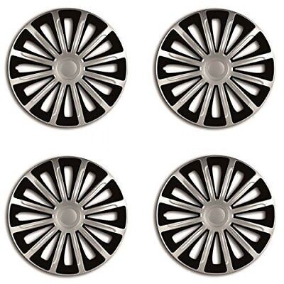 13 CHEVROLET ALL MODELS BLACK  SILVER WHEEL TRIMS SET OF 4 HUB CAPS COVER