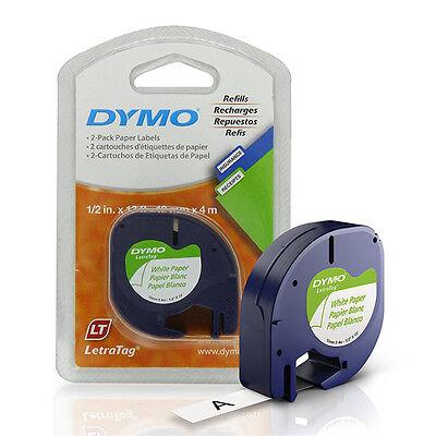 - Dymo 10697 LetraTag Paper Labels, 1/2