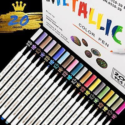 Acrylstifte Marker Stifte, 20 Farben wasserfest, Metallic Marker Stein, Keramik