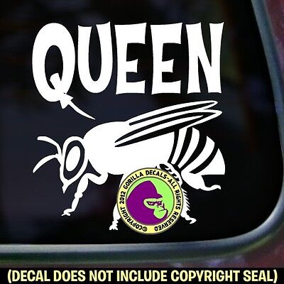 Queen Bee Vinyl Decal Sticker Beekeeper Honey Beekeeping Bumper Car Window Sign