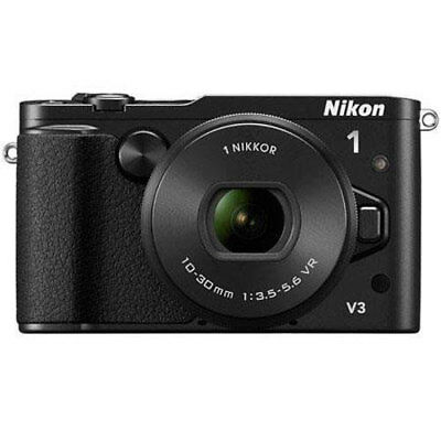 Nikon 1 V3 Mirrorless 18.4MP Digital Camera with 10-30mm Lens - Black