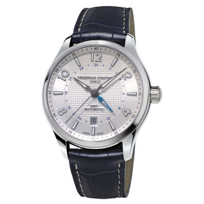 NEW FREDERIQUE CONSTANT MEN'S RUNABOUT GMT AUTOMATIC DATE WATCH FC-350RMS5B6