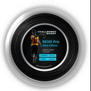 CHALLENGER SPORT REVO PRO BLACK TENNIS STRING REEL , 200 M , NEW