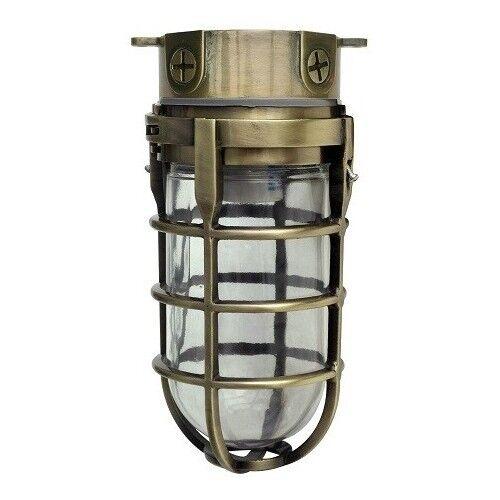 Antique Brass Ceiling Light Fixture Industrial Outdoor Metal