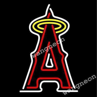New Anaheim Angels A logo Baseball Real Neon Sign Beer Bar Light [BEST DESIGNED] Angels Bar Anaheim