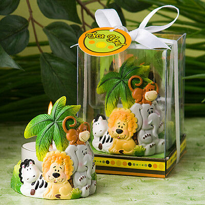 Jungle Critters Colorful Jungle Theme Tealight Holder Baby Shower Favors (Jungle Themed Baby Shower Favors)