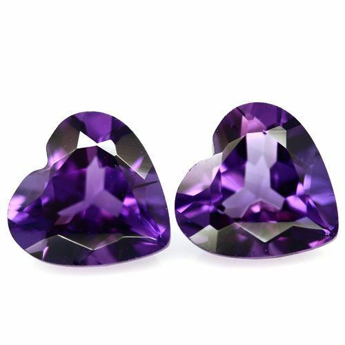 1.40cts Top Quality AAA Color Purple Heart Amethyst Pair 6mm Loose Gemstone