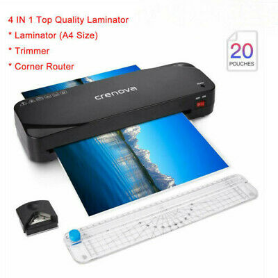 Home Office A4 Laminator Machine Free Paper Trimmercorner Rounder20 Pouches