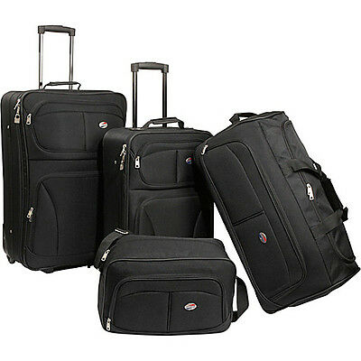 American Tourister Fieldbrook 4-PC Set - Black on Rummage