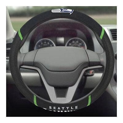 Brand New Nfl Seattle Seahawks Black Mesh Extra Grip Steering Wheel Cover
