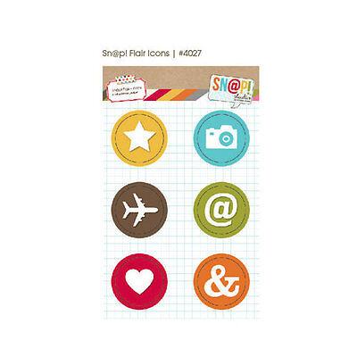 Snap Studio Flair Icons Adhesive Badges 6 pieces   BO
