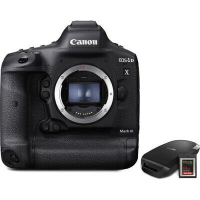 Canon EOS-1D X Mark III DSLR Camera CF Express Card and Reader Bundle