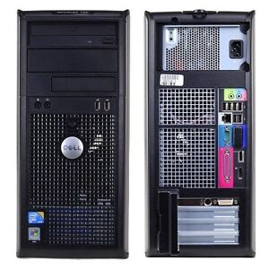 Quad Core Dell Desktop Computer 250 GB HDD 4.0 GB Ram Win 7