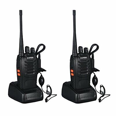 2 BAOFENG BF-888S RICETRASMITTENTE PMR RADIO UHF 400-470 MHz WALKIETALKIE DS