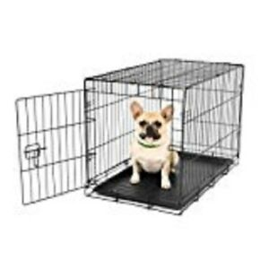 Dog Crates with dividers , 2 doors, removable pan, foldable