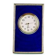 Guilloche Enamel Clock