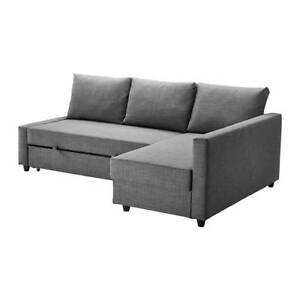 IKEA Frihenten corner sofa-bed (pull out couch and storage) gray