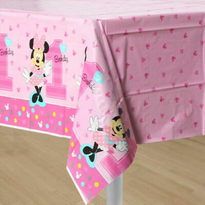 Disney Minnie Mouse 1st Birthday Plastic Table Cover 54