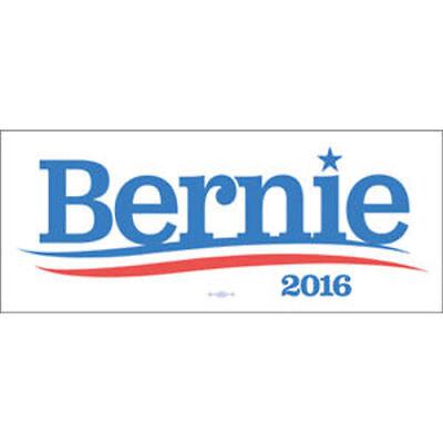 Bernie Sanders 2016 For President Bumper White Sticker Decal