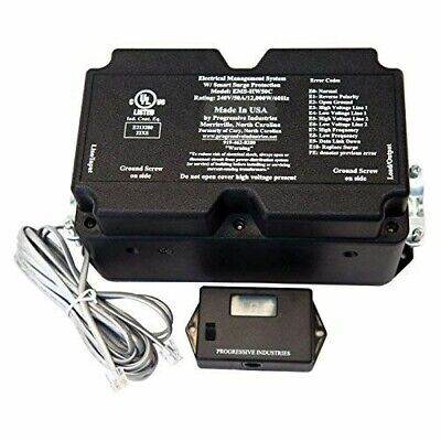 Progressive Industries EMS-HW50C 50A RV Surge Protector with Remote ()