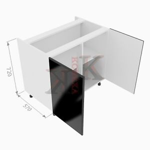 Complete kitchen units with gloss doors and soft close for Complete kitchen base units