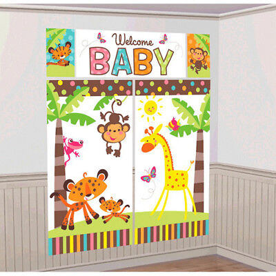 FISHER PRICE BABY SHOWER WALL DECORATING KIT (5pc) ~ Welcome Party Supplies - Fisher Price Baby Shower Party Supplies