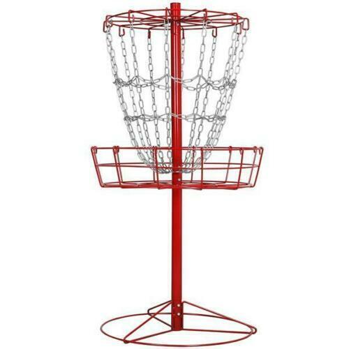 12 Chain Portable Metal Disc Golf Basket Disc Golf Target Practice Basket for Di