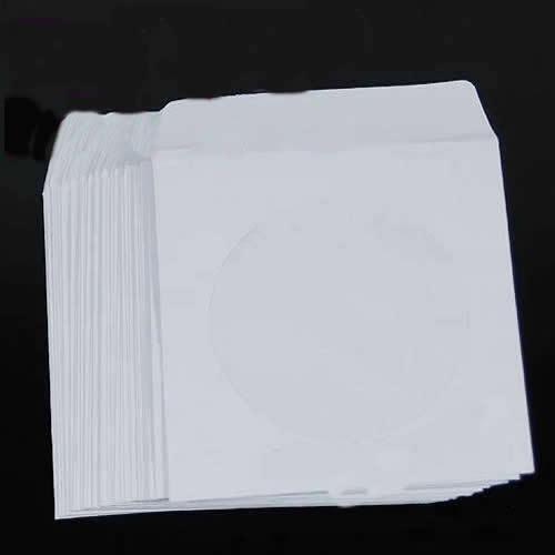 50 pcs 5inch Paper CD DVD Flap Case Cover Envelopes Set