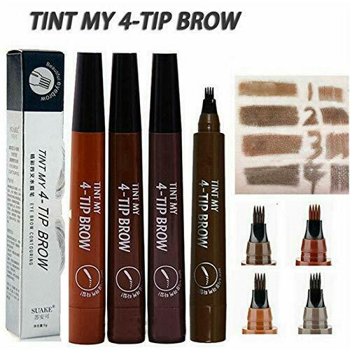 1Ps Microblading Eyebrow Pen Waterproof Fork Tip Tattoo Long Last Eyebrow Pencil Eyebrow Liner & Definition