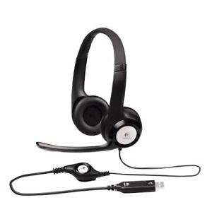 Logitech H390 Wired ClearChat Comfort USB Headset, Black