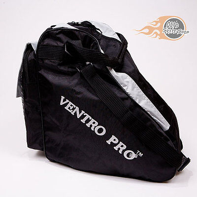 Roller Skate Bag, Large, Black, Quad, Inline, Ice Skates, Ventro