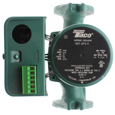 Taco 007-zf5-9 Cast Iron Priority Zoning Cartridge Circulator Pump 125 Hp