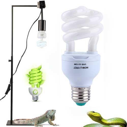 5 0 uvb 13w reptile light bulb uv lamp for vivarium. Black Bedroom Furniture Sets. Home Design Ideas