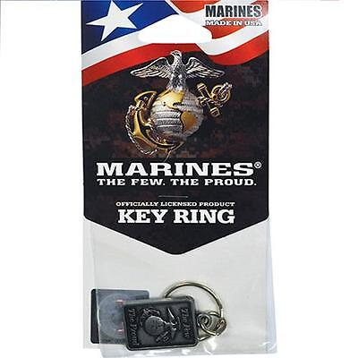 Usmc Marines Corp Keychain Key Ring Military Usa Medals Emblem The Few The Proud