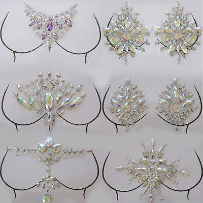 Breast Gems Adhesive Body Jewels Art Decor Multi Self Tattoos Resin Stick (Tattoo Breast)