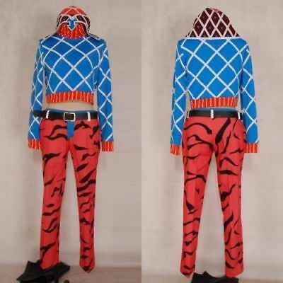 JoJo's Bizarre Adventure 5 Guido Mista Uniform Anime Cosplay Costume Halloween - Guido Halloween Costumes