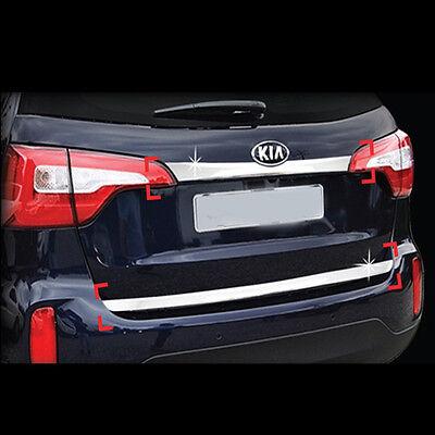 2013-2014 KIA New Sorento R Chrome Trunk Garnish Molding Trim Cover 2P 1Set