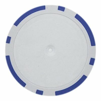 - 8 Stripe Non-Denominated 14g Poker Chips, Blue Clay Composite, 50-pack