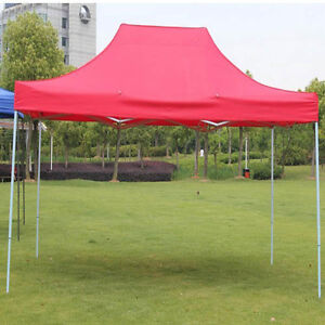 Red 2x2m Normal Duty Instant Folding Gazebo Marquee
