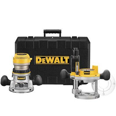 DEWALT 2-1/4 HP EVS Fixed Base & Plunge Router Combo Kit DW6