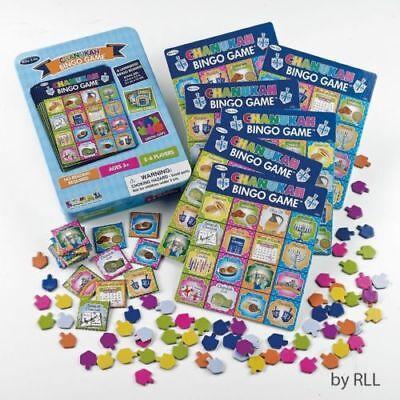 Chanukah Bingo Game HANUKKAH HOLIDAY KIDS GIFT 6 BOARDS 65 DREUDEL CHIPS 16 - Holiday Bingo
