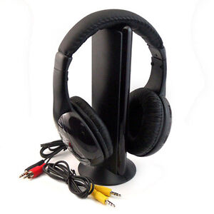5-in-1-Electronics-Wireless-Headphone-Earphone-Transmitter-with-FM-Radio-Headset