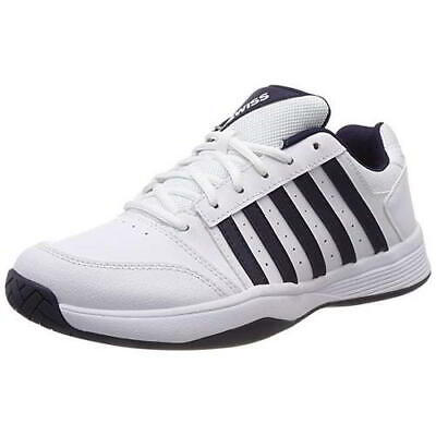 K-Swiss Court Smash Mens White Tennis Shoes Trainers Size 8.5-12