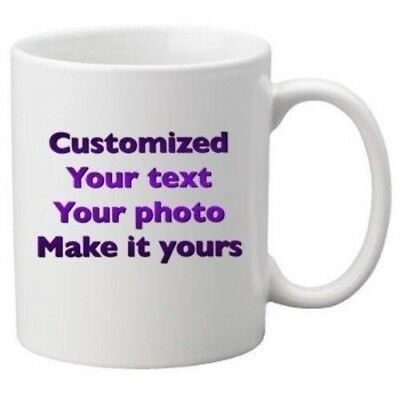 Coffee mug personalized Custom Photo Text Logo Name Printed Gift Ceramic -