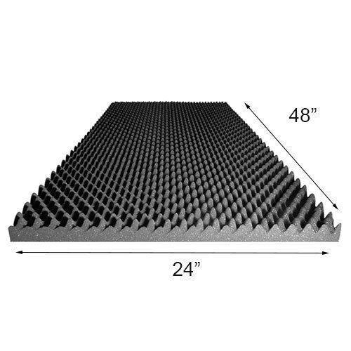 "1.5""X24""X48"" Acoustic Foam Egg Crate Panel Studio Soundproofing Foam Wall Panel"