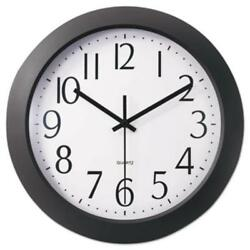 Universal Office Products 10451 Whisper Quiet Clock, 12, Black