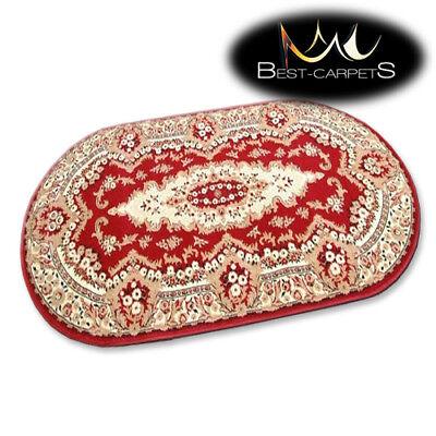 Traditionelle Ovale Teppich (Traditionell Agnella Ovale Teppiche Weinrot Blumen Standard Moderne Designs)