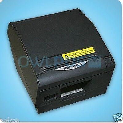 Star Tsp800 Pos Thermal Receipt Label Printer Serial Dark Gray Tsp847d Refurb