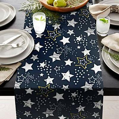 "Table setting Runner 14"" X 108"" starPrint  great for table setting contemporary"
